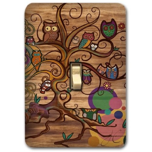 Owl Kitchen Decor Owl Brown Metal Light Switch Plate