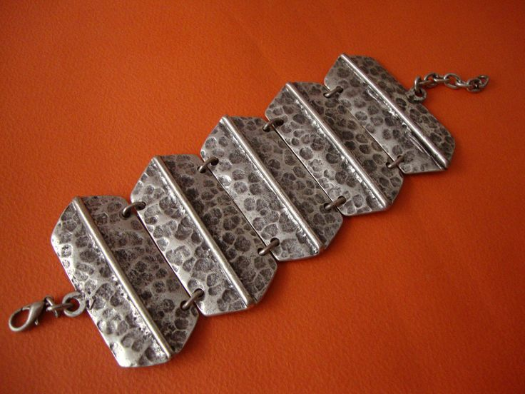 Modern Oxidized Custom Jewelry Petwer Bracelet Adjustable Length 16 - 20 cm by SilveradoJewellery on Etsy