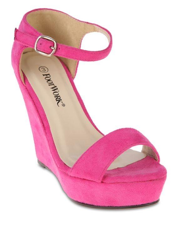 Pink Footwork Vernita Wedge Sandals