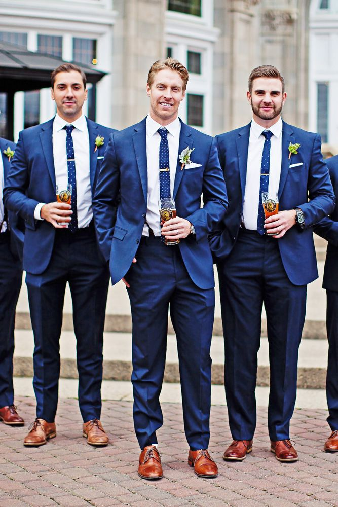 navy wedding groomsmen attire bespoke
