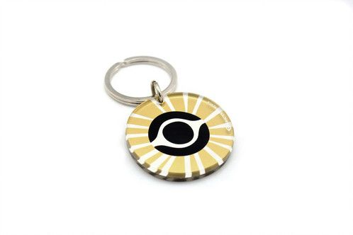 Gold evile eye | two sided plexiglass keychain | screenprinted & lazer cutted | designed and made in Greece