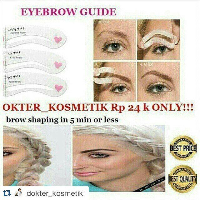 http://www.youtube.com/channel/UCqEqHuax3qm6eGA6K06_MmQ?sub_confirmation=1 EYEBROW GUIDE  only Rp 24000  Hanya di @dokter_kosmetik @dokter_kosmetik LOKASI: JAKARTA  INFORMASI DAN CARA ORDER:  LINE: @dokter_kosmetik (pake @ yah) BBM: 54D092CD WA : 081285027789 http://ift.tt/1urFYRu  DAPAT 3 POLA BISA BOLAK BALIK  Alis yang rapi tentunya sangat menunjang penampilan  namun apabila salah membentuk alis juga akan berakibat fatal terhadap keseluruhan wajah  Cetakan alis ini Cocok bagi yang ingin…
