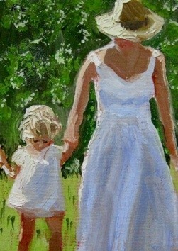 """""""""""Come walk with me""""mother and child"""""""