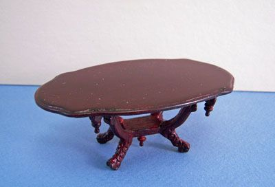 "1"" Scale Bespaq Mahogany Vintage Victorian Coffee Table"