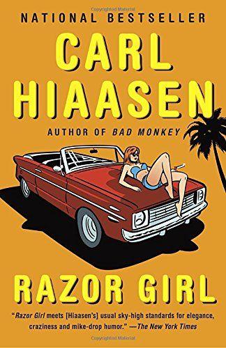 Razor Girl: A novel by Carl Hiaasen https://www.amazon.com/dp/0345804902/ref=cm_sw_r_pi_dp_x_E5cezbY6MWQKZ