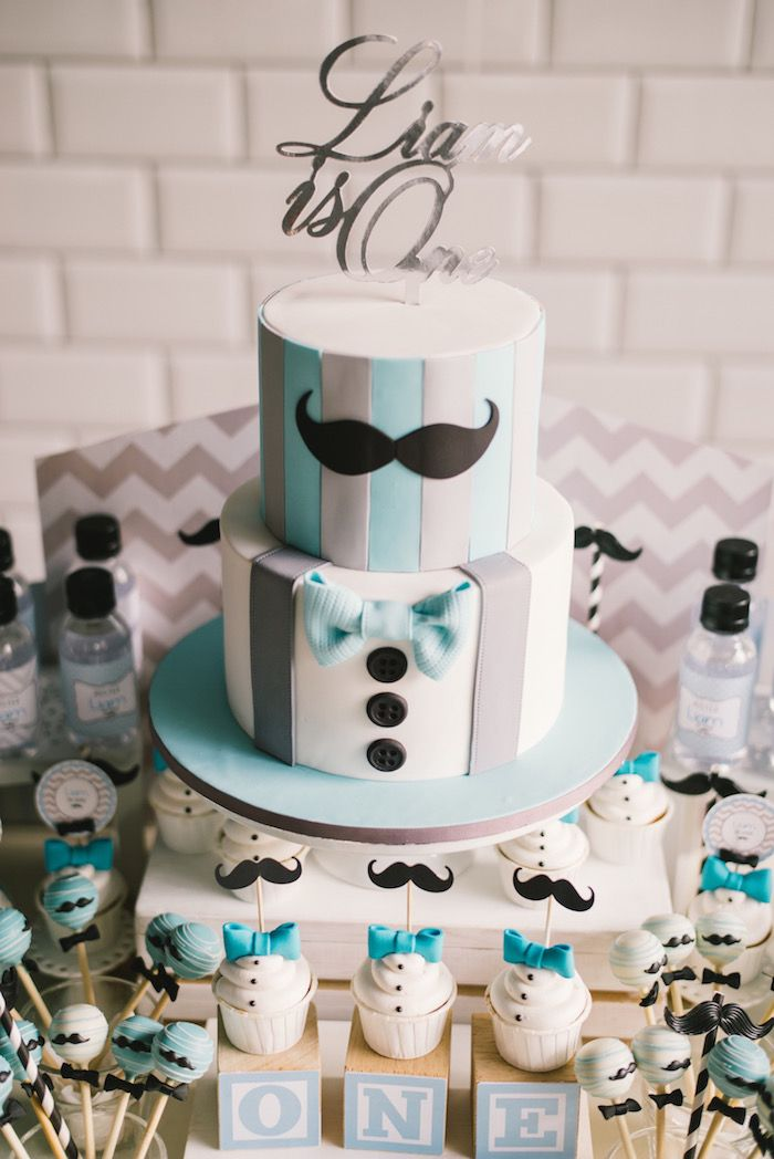 Cake from a Modern Little Man Birthday Party on Kara's Party Ideas | KarasPartyIdeas.com (24)