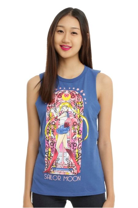 New official Sailor Moon muscle top! More info and shopping links here.