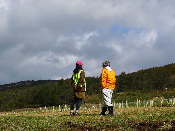 ≪Present Tree in 宮古≫ 第2回植樹イベント_20131013 心配していた天気が徐々に回復しだしました。