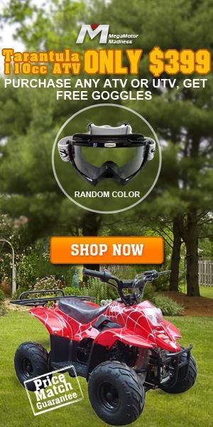 Only $399! #Tarantula 110cc #ATV. Purchase any ATV or #UTV, Get F*r*e*e #Goggles .Price Match Guarantee. Shop Now! ~ http://www.megamotormadness.com/atvs?utm_source=shareasale_medium=aff_campaign=20130516_ATV=shareasale