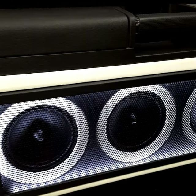 video clip of f150 truck crewcab custom door panels , kick panels midranger car audio custom install leds sema 2016  stinger electronics  phoenix gold   stereo video center  jmh audio concepts  dad subwoofers