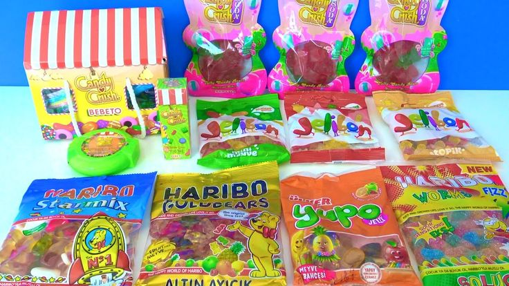 Bebeto Candy Crush Kent Jelibon Ülker Yupo Haribo Starmix Worms altın ay...