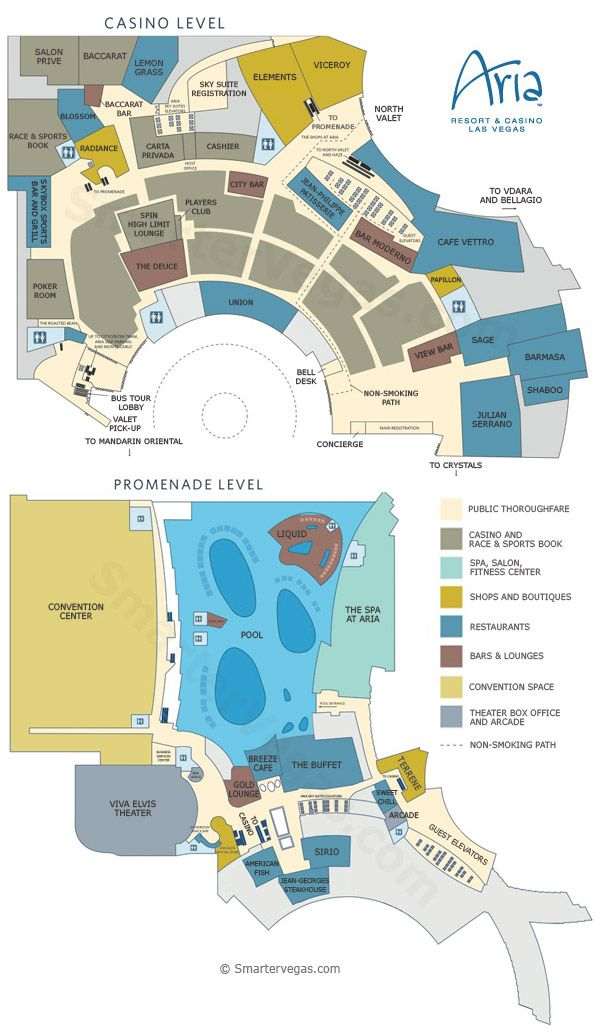 Aria Casino Property Map & Floor Plans - Las Vegas