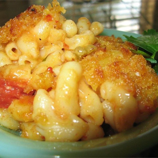 """Danny's Macaroni and Cheese I """"This is sooo yummy! With real cheddar, stewed tomatoes and pasta, what's not to love?"""""""