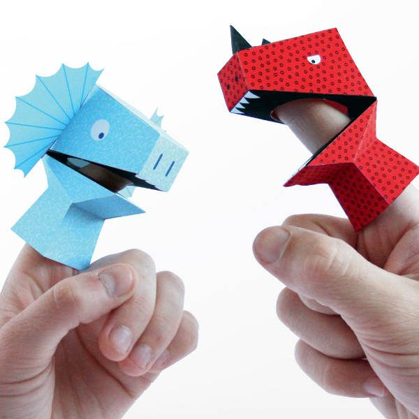 Dino Finger Puppets Kit, great on the go entertainment