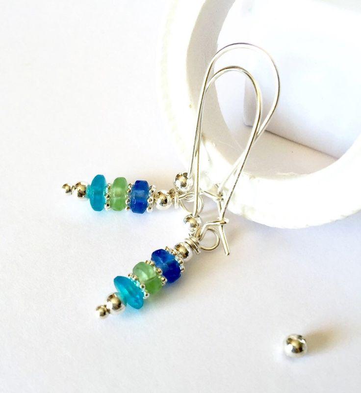 A personal favorite from my Etsy shop https://www.etsy.com/ca/listing/280015044/sea-glass-earrings-blue-dangle-earrings