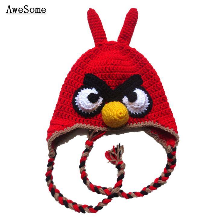 Angry vogel winter hoed, handgemaakte brei haak baby jongen meisje dier oorklep hoed, kardinaal hoed, rode mad bird hoed, peuter foto prop in pure met de hand gehaakt baby outfitHoeveelheid: 1 hoed als beeldGrootte: 0-12 maandenDeze prachtige met de hand gehaakt van hoeden en petten op AliExpress.com | Alibaba Groep