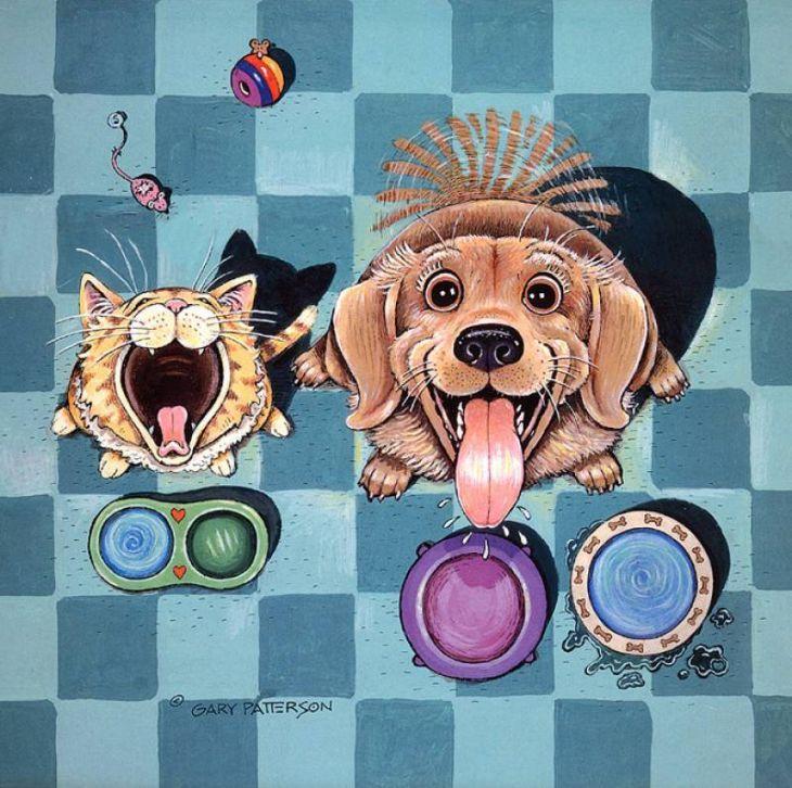 Собака рисунки смешные, надписями чистоты