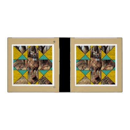 #Quilt Pattern Print Deer Crossing Binder - beach travel beachlife