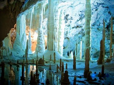 FRASSASI - A myriad of fascinating caves form the central attraction of the inland park, Gola della Rossa Frasassi Regional Park ~ This is the Hall of Candles