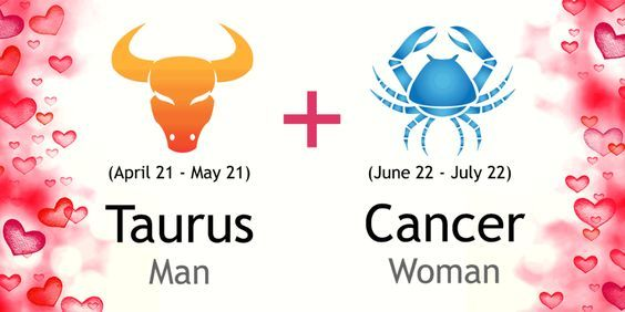 Love match compatibility between Taurus man and Cancer woman. Read about the Taurus male love relationship with Cancer female.