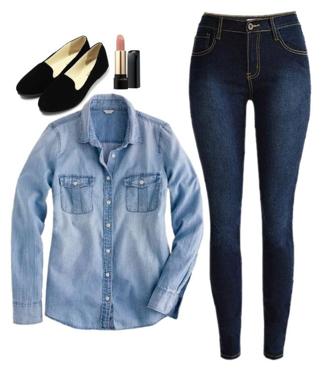 """""""Rachel Zane Inspired Outfit"""" by daniellakresovic ❤ liked on Polyvore featuring Lancôme and J.Crew"""
