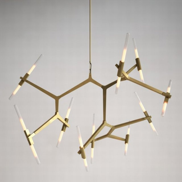 20 Bulb Agnes Chandelier Designed By Lindsey Adelman For Roll Hill Is A Modular System Of Metal Parts That Support Swarm Tubular Glass Lights