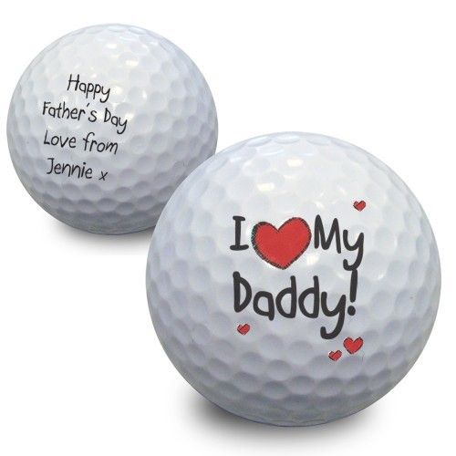 Personalised I Heart Golf Ball  from Personalised Gifts Shop - ONLY £7.99