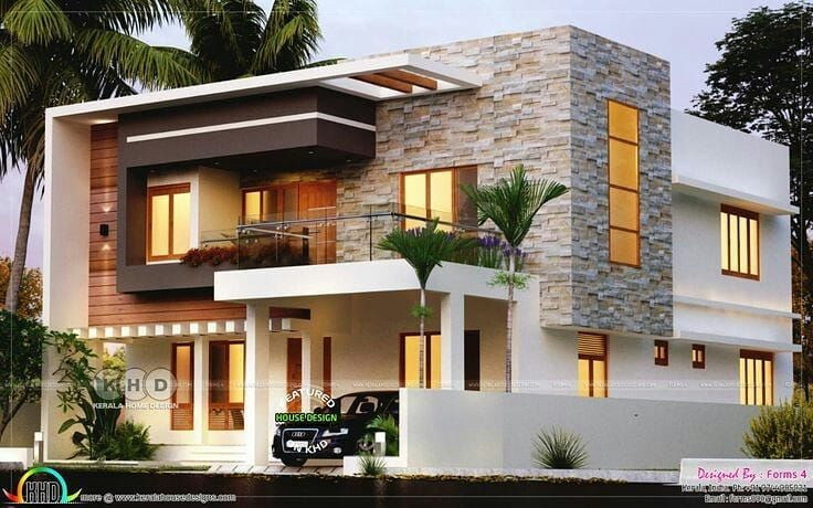 What Do You Think It Is A Wonderful House More Follow Modernluxbuilding For More Mo Kerala House Design Cool House Designs Modern Exterior House Designs
