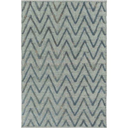 Surya MAE1004-23 Mateo 2' x 3' Rectangle Natural Fibers Hand Woven Natural Fiber - Blue