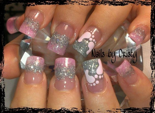 12 best baby shower nails images on pinterest baby shower nails its a girl nail art gallery prinsesfo Gallery