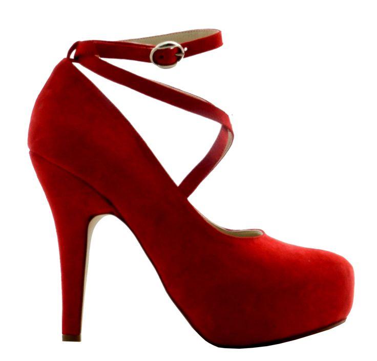 MarF Zapatos . Modelo Fiorella - cabritila Rojo-Azul_Negro