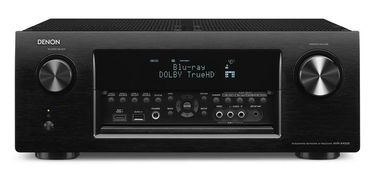 Denon AVRX4000 Networked 3D Ready Home Cinema Receiver with Airplay & 4K Upscaling (Black)