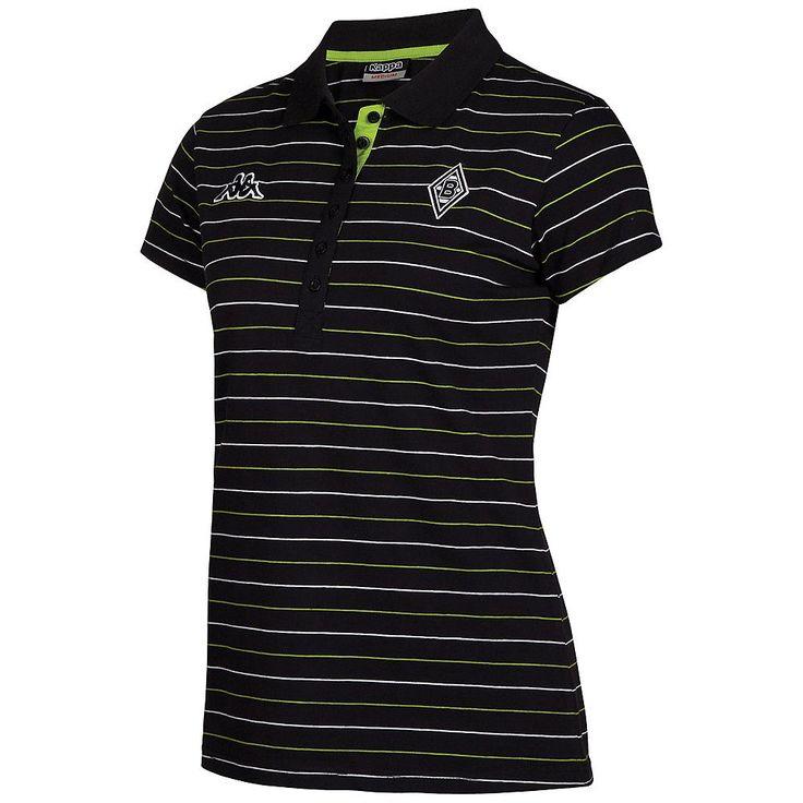 Ein Damenoberteil für fast jeden Anlass. Das Borussia Mönchengladbach Poloshirt für Damen macht sich nicht nur im Stadion, sondern auch auf der Straße gut. Die Querstreifenoptik unterstreicht das sportive Auftreten dieses Kappa Poloshirts....