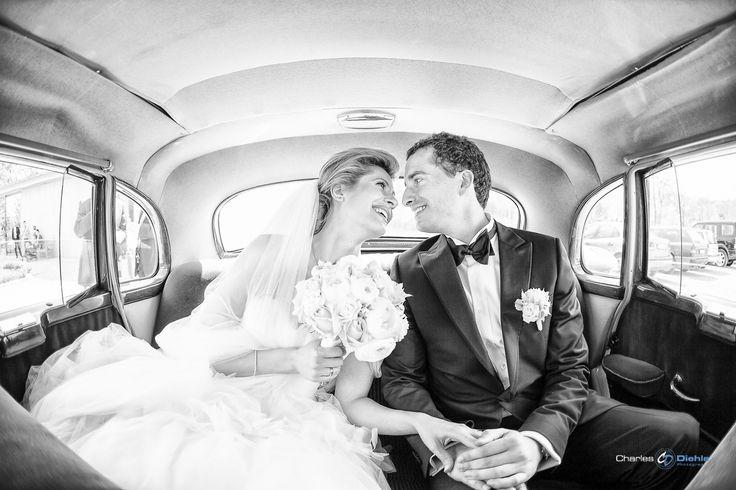 Liebe im Hochzeitsauto....