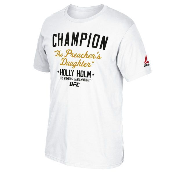 Holly Holm UFC 193 Reebok Champion T-Shirt - White - $22.99