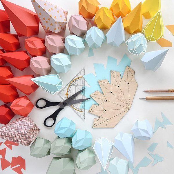 #DIY #paper #papercrystals #diamonds from www.kidsdinge.com http://instagram.com/kidsdinge https://www.facebook.com/kidsdinge/ #kidsdinge #kidsroom #kids #interior
