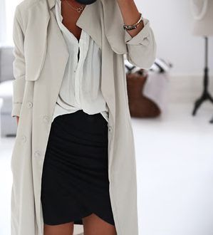 #fall #fashion / cream trench coat