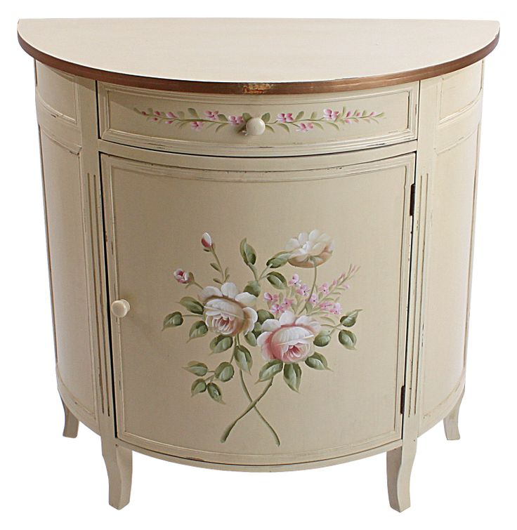 Delicate wooden cabinet #floral #country style. www.inart.com
