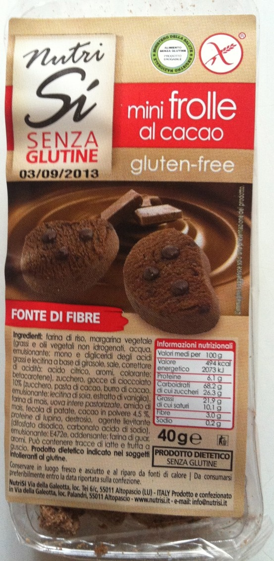 Chocolate gluten free biscuits for breakfast at the Hotel Universo!