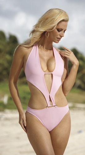 Carabella - one-piece monokini (pink)