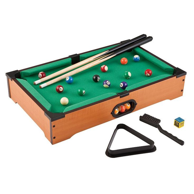 Mainstreet Classics Table Top Billiards Game Set, Clrs