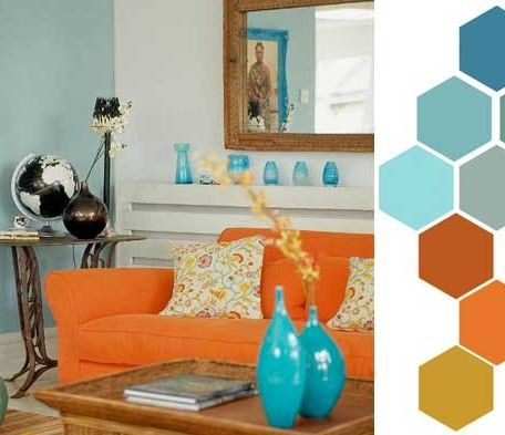 17 best images about orange u awesome on pinterest for Orange and blue living room ideas