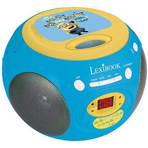 Lexibook – RCD102DES – Radio / Lecteur CD – Minions: Lecteur CD à chargement par le haut Enceintes : 0.8 watts x 2 Dimensions : 20 x 19,5 x…