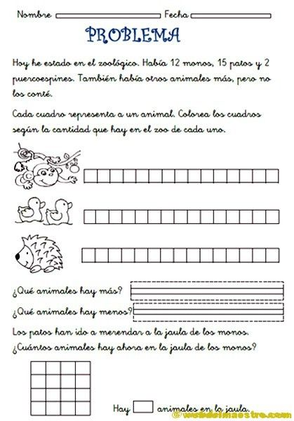 II>★★★★ Problemas para 1º de primaria - Recursos educativos y material didáctico para niños de primaria. Descarga Problemas para 1º de primaria gratis.