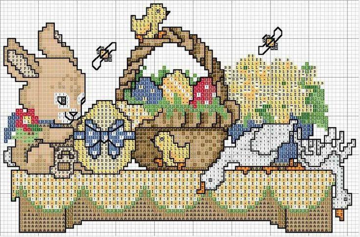 Gráficos de Ponto Cruz: ponto cruz Páscoa: Easter Cross Stitch, Point, Cross Me Stitch, Graphics, Cross, Cross Stitches