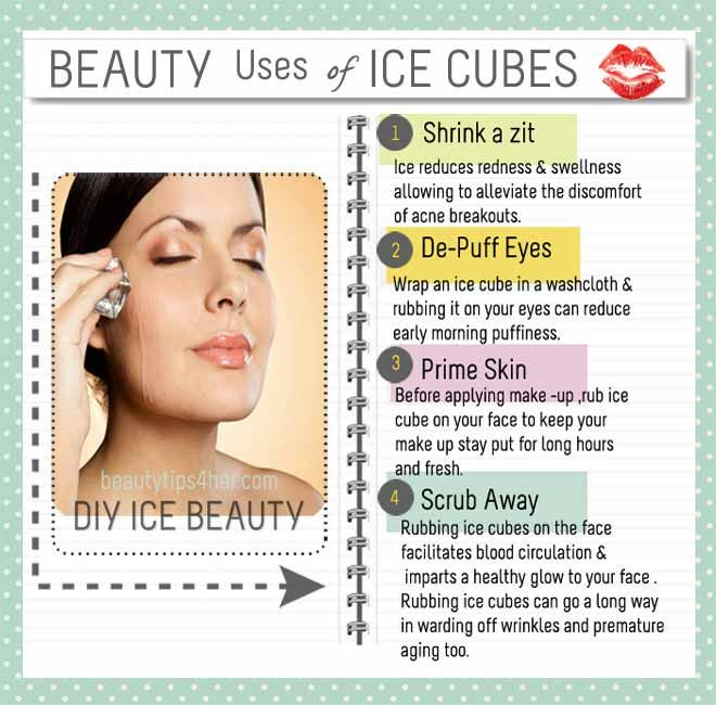 Ways to Use Ice for Do-it-yourself Beauty Remedies   Beauty and MakeUp Tips