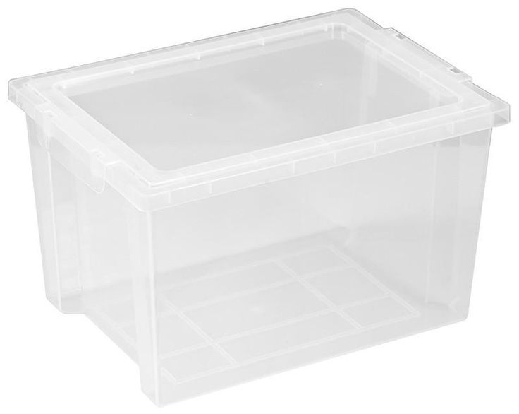 ECR4Kids ELR-0723-CL Large Storage Bins with Lid - Clear - Set of 20