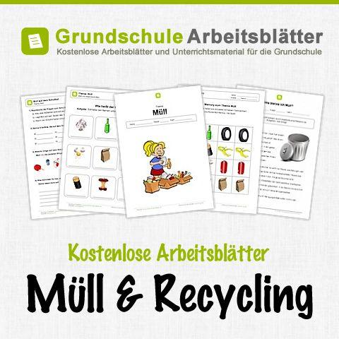Kostenlose Arbeitsblätter und Unterrichtsmaterial für den Sachunterricht zum Thema Müll und Recycling in der Grundschule.