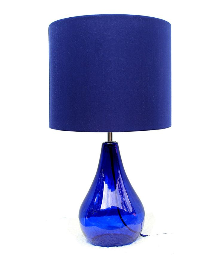 Mediterranean Sea Fashion Blue Crystal Glass Fabric Led E27 Table Lamp For Living Room Bedroom Bar Deco Lamps H 51cm 1765 #Affiliate