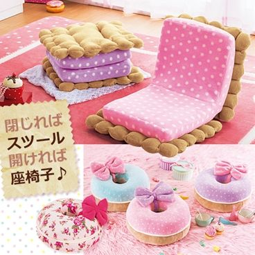 Doughnut and macaroon cookies chairs